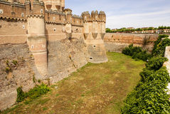 Coca Castle (Castillo de Coca) is a fortification constructed in Stock Photo