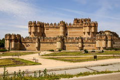 Coca Castle (Castillo de Coca) is a fortification constructed in Stock Image