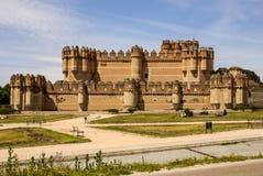 Coca Castle (Castillo de Coca) is a fortification constructed in Stock Image