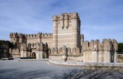 Coca Castle Castillo de Coca i det Segovia landskapet Arkivbilder