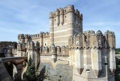 Coca Castle Castillo de Coca i det Segovia landskapet Royaltyfri Fotografi