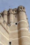 Coca Castle Castillo de Coca i det Segovia landskapet Royaltyfria Bilder