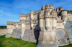 Coca Castle Castillo de Coca i det Segovia landskapet Royaltyfri Foto