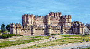 Coca Castle Castillo de Coca i det Segovia landskapet Royaltyfri Bild