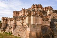 Coca Castle (Castillo de Coca) ist eine Verstärkung, die herein konstruiert wird stockfotos