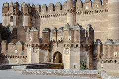 Coca Castle, Castillo de Coca na província de Segovia Fotografia de Stock Royalty Free