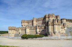 Coca Castle, Castillo de Coca na província de Segovia Fotos de Stock Royalty Free