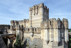 Coca Castle, Castillo de Coca nella provincia di Segovia Fotografia Stock Libera da Diritti