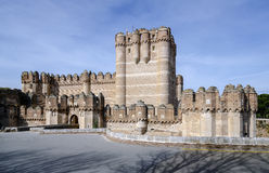 Coca Castle, Castillo de Coca in Segovia province Stock Images