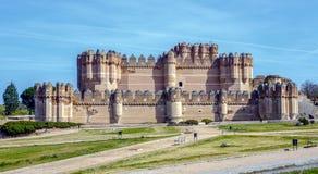 Coca Castle, Castillo DE Coca in Segovia provincie royalty-vrije stock afbeelding