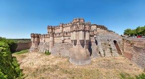 Coca Castle - castillo mudéjar del siglo XV foto de archivo libre de regalías