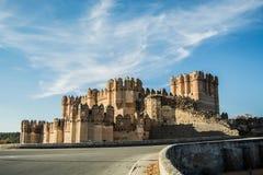Coca Castle Segovia images libres de droits