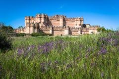 Coca Castle, Segovia Kastilien y Leon, Spanien Stockbild
