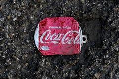 COCA COA CAN LITER. Kastrup/Copenhagen /Denmark - 14 Auguat 2017.    Coca cola  can liter . Photo.Francis Joseph Dean/Deanpictures Stock Image