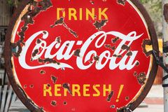 Coca Cola ad Royalty Free Stock Photography