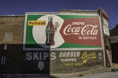 Coca-Cola Ad Painted on Building Royalty Free Stock Images