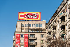 Coca-Cola Advertising on Apartment Buildings Royalty Free Stock Photos