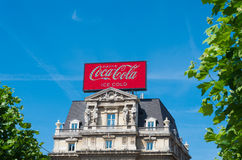 Coca-cola advertising Royalty Free Stock Images