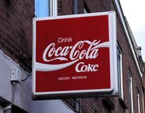 Coca Cola advertising sign Royalty Free Stock Images