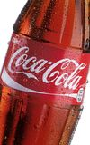 Coca Cola bottle - detail Royalty Free Stock Photography