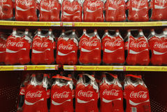 Coca Cola bottles Stock Photo