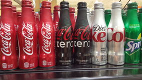 Coca Cola Bottles. New botted cans by Coke., berverage maker Stock Photos