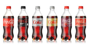 Coca-Cola bottles set Stock Image