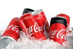 Coca Cola Can Thailand imagen de archivo libre de regalías