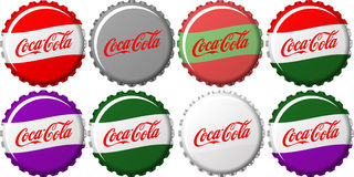 Coca Cola Caps Stock Images