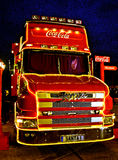 Coca-cola Christmas truck Stock Images