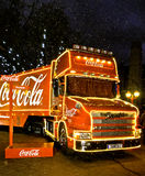 Coca-cola Christmas truck Royalty Free Stock Photography