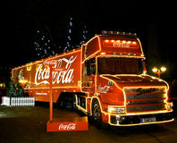 Coca-cola Christmas truck Stock Image