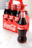 Coca-Cola Classic glass bottles Royalty Free Stock Photography
