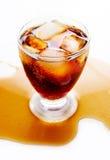 Coca-cola com gelo Fotografia de Stock