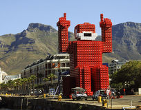 Coca-cola-crate man. Cape Town, South Africa - December 17, 2010: Elliott the Coca-cola-crate man was made from 4200 crates and stands 18 meters tall at the Stock Images
