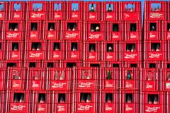 Coca Cola crates, Belgian branch in Ghent Royalty Free Stock Photography
