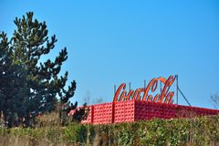 Coca Cola crates, Belgian branch in Ghent Royalty Free Stock Photos