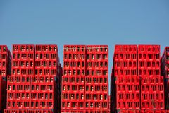 Coca Cola crates, Belgian branch in Ghent Stock Images