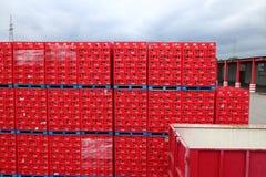 Coca Cola crates Stock Images