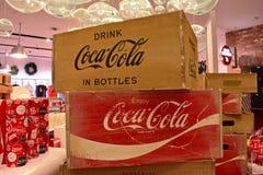 Coca-cola de caisses de cru de stock au lac Buena Vista image libre de droits