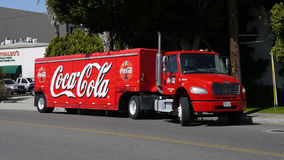 Coca Cola delivery truck royalty free stock photo
