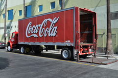 Coca Cola delivery truck Stock Photo