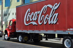 Coca Cola delivery truck Royalty Free Stock Photos
