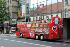Coca cola double-decker Stock Image
