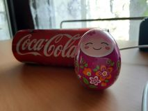 Coca, cola, egg ,camera, funny, cocacola royalty free stock images