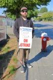Coca Cola Employees en huelga Fotos de archivo libres de regalías