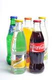 Coca-Cola, fanta, sprite, shweppes Imágenes de archivo libres de regalías