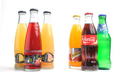 Coca Cola, fanta, Sprite, shweppes, cappy Stockfoto