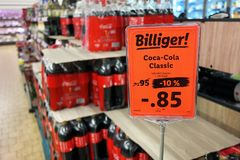 Coca-Cola in a German store Royalty Free Stock Photos
