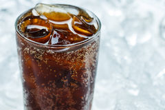 Coca cola. A glass of cola with ice cubes royalty free stock images